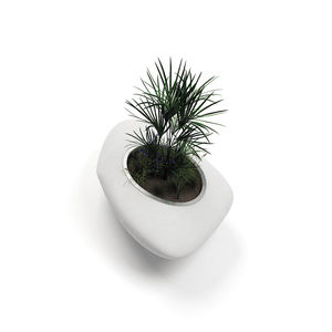jardinera de material compuesto / de diseño original / para espacio público
