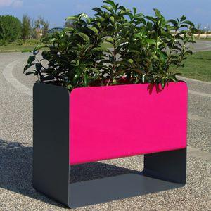 maceta de jardín de acero inoxidable / rectangular