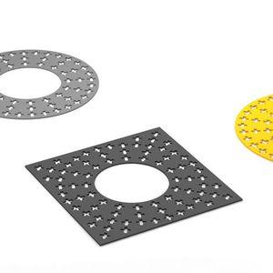 cubrealcorques de acero / cuadrado / redondo