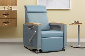 sillón médico de cuero artificial / reclinable / con reposapiernas