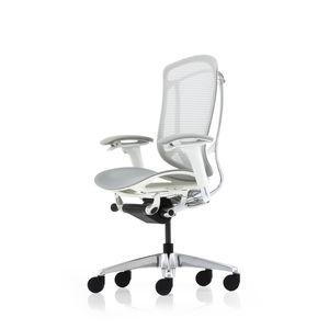 sillón de oficina contemporáneo / de malla / con ruedas / con patas en forma de estrella