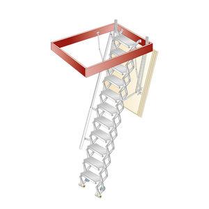 escalera elevada de aluminio