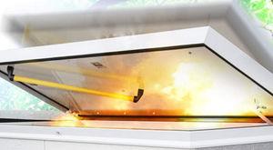 trampilla de inspección para techo / rectangular / cuadrada / de corte térmico