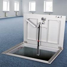 trampilla de inspección para pavimento / para suelo de baldosas / cuadrada / rectangular