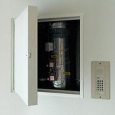 trampilla de inspección para pared / cuadrada / de aluminio / de corte térmico