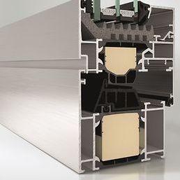ventana abatible / de aluminio / con vidrio triple / de corte térmico