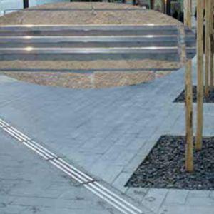 pavimento guía táctil de acero inoxidable
