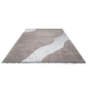 alfombra contemporánea / con motivos / rectangular