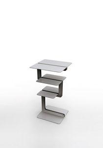 revistero contemporáneo / para uso residencial / de aluminio / de madera