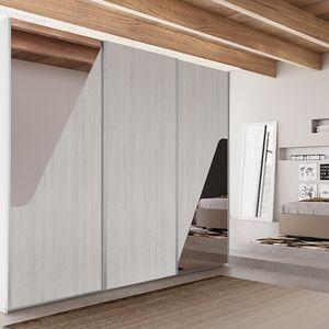 armario contemporáneo / de madera / con puertas corredizas / contract