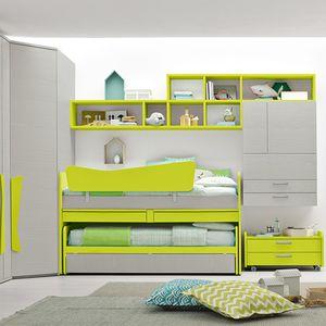 habitación para niños verde / de madera lacada / unisex