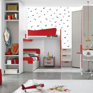 cama alta / individual / contemporánea / con base de almacenamiento