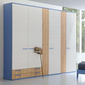 armario contemporáneo / de madera lacada / con puertas corredizas / con puertas batientes