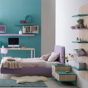 habitación para niños violeta / de madera lacada / para niña