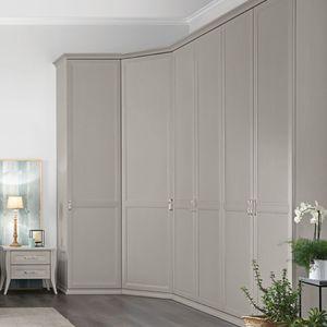 armario de esquina / clásico / de madera lacada / con puertas batientes