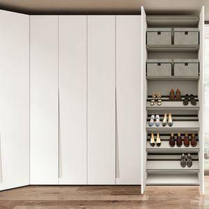 armario de esquina / contemporáneo / de melamina / con puertas batientes
