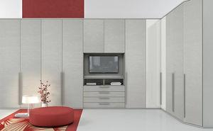 armario de esquina / contemporáneo / de madera lacada / con puertas batientes