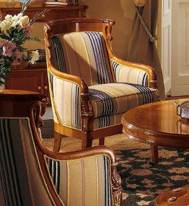 sillón de estilo Imperio / de cerezo / con orejas