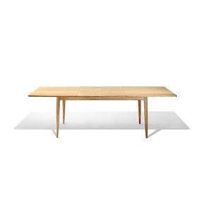 mesa de comedor contemporánea / de roble / rectangular / para edificio público