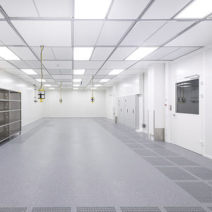 suelo técnico de aluminio / ignífugo / de interior / para sala blanca