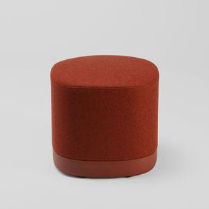 puf contemporáneo / de aluminio / de tejido / redondo
