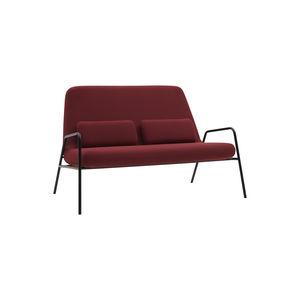 sofá compacto / de diseño escandinavo / de tejido / de acero