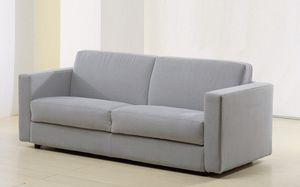 sofá cama / contemporáneo / de tejido / 2 plazas