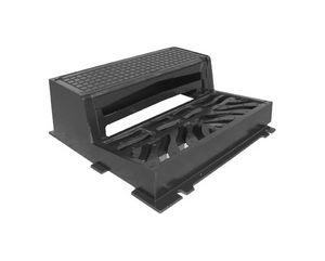 borde de cuneta / de hierro fundido / rectangular