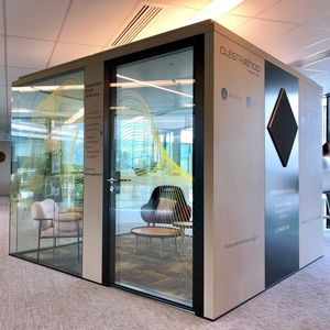 oficina POD acústica / con iluminación LED integrada / conectada / con toma de corriente integrada