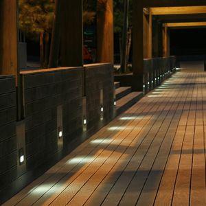 luminaria empotrable de pared / LED / redonda / cuadrada