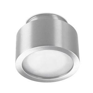 plafón contemporáneo / redondo / de vidrio / de aluminio