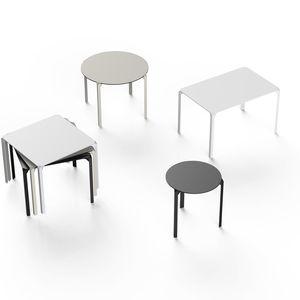 mesa contemporánea / de HPL / de poliamida / con base de fibra de vidrio
