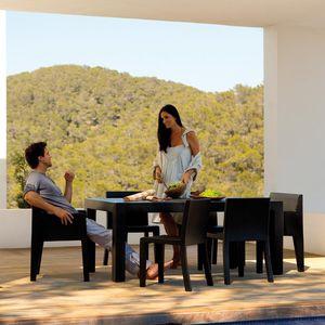mesa contemporánea / de polietileno rotomoldeado / rectangular / de jardín