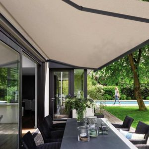 tela para protección solar / de color liso / de fibra acrílica / impermeable