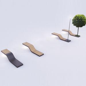 banco público de diseño minimalista