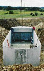 depósito de decantación para aguas residuales