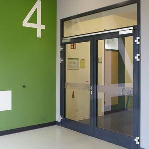 perfil para puerta de aluminio / de seguridad / con aislamiento térmico / antiincendios