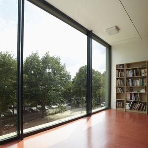 perfil de ventana de aluminio / de corte térmico / acústico / antiintrusión