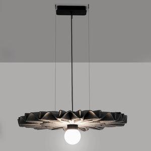 lámpara suspendida / contemporánea / de fieltro / regulable