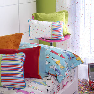 tela de tapicería / para cortinas / con motivos animales / con motivos infantiles