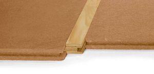 aislante termoacústico / de fibra de madera / para forjado / tipo panel