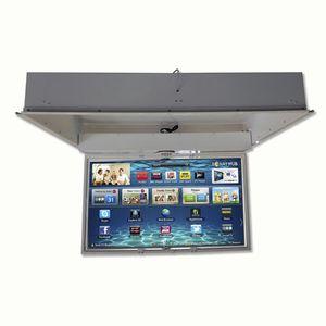 soporte para TV de techo contemporáneo / giratorio / motorizado para techo / con mando a distancia