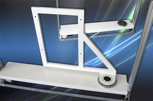 soporte para TV de pie contemporáneo / giratorio / con elevador / suelo-techo