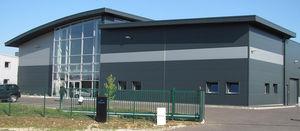edificio prefabricado / modular / de acero galvanizado / de vidrio