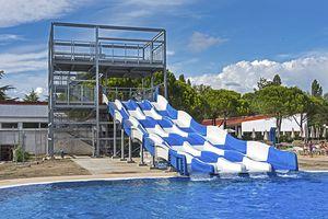 tobogán recto / giratorio / para parque acuático / múltiple