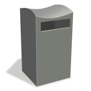 cubo de basura público / de acero inoxidable / contemporáneo