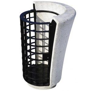 cubo de basura público / de hormigón / contemporáneo