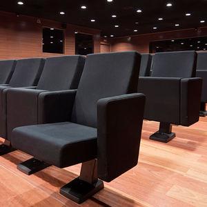 butaca de auditorio contemporáneo / de tejido / de poliuretano / plegable