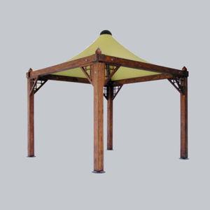 cenador de madera / de techo de lona / para bar / para aparcamiento