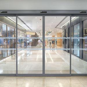 puerta de entrada / corredera / de vidrio / de aluminio